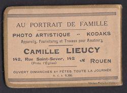 ROUEN Photographe C Lieucy Rue Saint Sever Ancien Petit Carnet De Note - Advertising