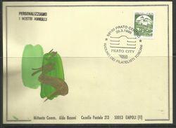 ITALIA ITALY RADUNO DEI FILATELISTI TOSCANI PRATO CENTRO ALDO BUSONI 28 3 1998 CARD CARTOLINA - Borse E Saloni Del Collezionismo