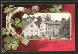 Passepartout-AK Egloffstein, Gasthaus Zur Post, Hufeisen & Klee - Ohne Zuordnung