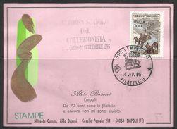 ITALIA ITALY BORSA SCAMBIO DEL COLLEZIONISTA EMPOLI ALDO BUSONI 16 9 1995 CARD CARTOLINA - Borse E Saloni Del Collezionismo