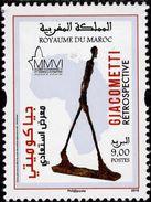 Morocco - 2016 - Art - Giacometti Retrospective - Mint Stamp - Morocco (1956-...)