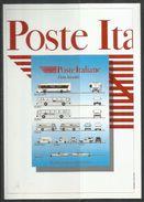 ITALIA ITALY 1998 RADUNO DEI FILATELISTI TOSCANI CARTOLINA POSTALE CARD POSTE ITALIANE FLOTTA AZIENDALE ANNULLO SPECIALE - Borse E Saloni Del Collezionismo