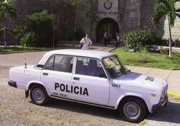 Lada 2107  (Policia)  En Havanna  -  1980      -  CPM - Voitures De Tourisme