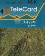 "TARJETA TELEFONICA DE NAMIBIA. (FAUNA) (267). TIRADA 10.000, Número De Control: NAEI. Dashed Zero: ""Ø"". - Namibia"