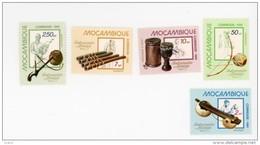 Mozambique-1981-Instruments De Musique-YT 796/800***MNH - Musique