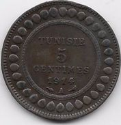 Tunisie 5 Centimes 1914 - Coins