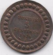 Tunisie 5 Centimes 1916 - Coins