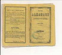 TOURS, Indre Et Loire - Nouvel Almanach, Année 1861 - Calendrier, Foires Et Marchés, Administrations, Transports... - Calendars