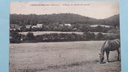 CPA CHEVAL LAROCHEMILLAY NIEVRE VILLAGE DE ST GENGOULT - Otros Municipios