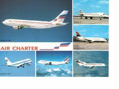CPM--Flotte De AIR CHARTER-Filiale De AIR FRANCE & De AIR INTER--Airbus & Boeing - 1946-....: Moderne