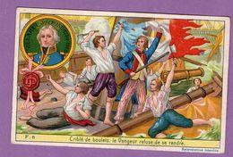 Carte La Petite Histoire De France - Le Vaisseau Le Vengeur Serie F N° 5 - Histoire