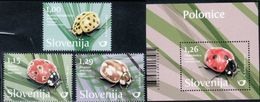 SI 2017-15 FAUNA INSECTS, SLOVENIA, 1 X 3v + S/S, MNH - Slovénie