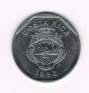 )  COSTA RICA  10 COLONES  1992 - Costa Rica