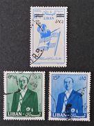 EMISSIONS 1959/60 - OBLITERES - YT 160 + 167 + 171 - Liban