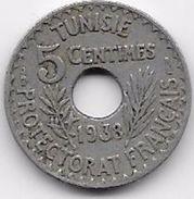 Tunisie 5 Centimes 1938 - Coins