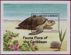 Antigua & Barbuda 2002 MNH MS, Olive Ridley Turtle Or Sea Turtle, Marine Life - Turtles