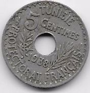 Tunisie 5 Centimes 1938 - Monnaies