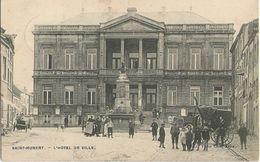 Saint-Hubert - Hôtel De Ville Très Animée - Calèche - Circulé 1908 Edit. Victor Caën - Saint-Hubert