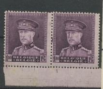 319 Paire Avec Curiosité  (taches D'encre)   Charnière Propre - 1931-1934 Mütze (Képi)