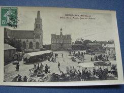 """* BOURG-ACHARD (Eure) Place De La Mairie , Jour De Marché """" . - Other Municipalities"""