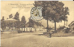 BASSEVELDE - DORPSTRAAT MET KIOSK - VRIJBOOM 1918 EN MONUMENT - Belgique