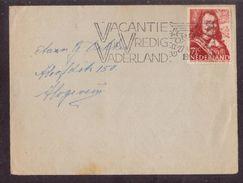 JZ170   Nederland 1945  Vacantie In Vredig Vaderland By Letter From Groningen To Hoogeveen - Period 1891-1948 (Wilhelmina)