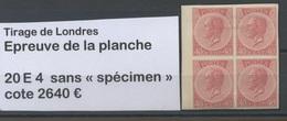 20 E4  Essai Du 40c Avec Charnière  Non Dent Sans Spécimen Cote 2640 Euros - 1865-1866 Profile Left