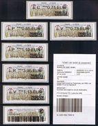 7 ATMs, NABANCO, EC- LV- LP- IP- LR- LV SUIVIE + PREUVE,Centenaire De L'entrée En Guerre Des Usa, Gondrecourt Le Chateau - 2010-... Geïllustreerde Frankeervignetten