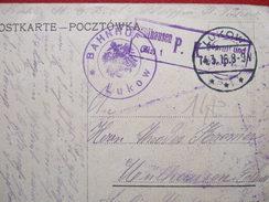 "POLOGNE - LUKOW - "" BAHNHOF - LUKOW  "" + MÜLHAUSEN P. K. -. GUERRE 1914/18 -"" TRES RARE "" - - Poland"