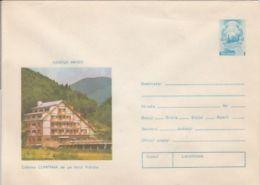 TOURISM, VIDRARU LAKE- CUMPANA CHALET, COVER STATIONERY, ENTIER POSTAL, 1976, ROMANIA - Holidays & Tourism