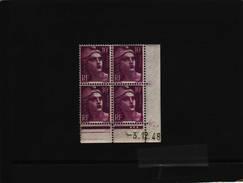 N° 811 - 10F Marianne De GANDON - I De I+J - 2° Partie Du Tirage Du 26.11.48 Au 22.12.48 - 3.12.1948 - - Coins Datés