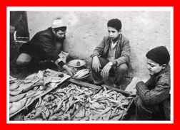 Photographie Yvon Kervinio , Maroc , Tetouan , Marchands De Sardines  (scan Recto Et Verso) - Other Photographers
