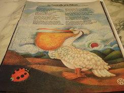ANCIENNE PUBLICITE  1302 VOLKSWAGEN  1970 - Voitures