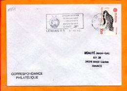 SARTHE, Le Mans, Flamme SCOTEM N° 12884, 20e Coupe Du Monde De Bowling, 1-8 Novembre 1992 - Marcophilie (Lettres)