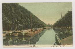 CHARLEROI : Le Canal Au Quai De Brabant, 1905 - Péniches - Colorisée (f7433) - Charleroi