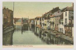 CHARLEROI : La Sambre Et Le Bassin De Natation - Publicité L'Aiglon Et Badot Verviers - Colorisée (f7436) - Charleroi