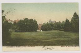 CHARLEROI : Le Parc, Vu De La Rue Du Ravin, 1906 - Colorisée (f7444) - Charleroi