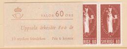 UPPSALA CHURCH HISTORY RELIGION BISHOP SEAL SWEDEN SUEDE SCHWEDEN 1964 MI 517 518 MNH BOOKLET 10 STAMPS Slania - Christianity