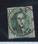 Belgique N°9 1c D2 AMAY  MARGE Simple Cercle 13/2/1863 Ex Wuidar TRES Rare - 1858-1862 Médaillons (9/12)