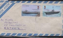 O) 1996 ARGENTINA, UNEMPLOYED SHIP A.R.A.SAN ANTONIO, AIRCRAFT CARRIER A.R.S. 25 DE MAYO, PUERTO BELGRANO, COVER TO ESTO - Covers & Documents
