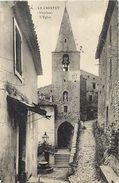 - Vaucluse -ref-A475- Le Crestet - L Eglise Et Rue - Carte Bon Etat - - Sonstige Gemeinden