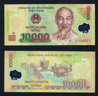 VIETNAM  -  2016  10000 Dong  Polymer  Replacement Note  UNC - Vietnam