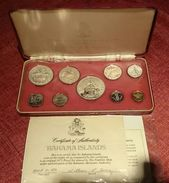 BAHAMAS SILVER PROOF SET 1972 With CASE AND COA (free Shipping Via Registered Air Mail) - Bahamas