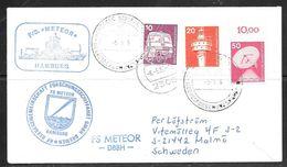 1986 German Seapost, Meeresforschungsschiffahart, (6-5-86) FS Meteor - [7] Federal Republic