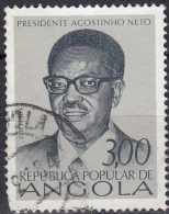 ANGOLA 1976 1st Anniv Of Independence - 3e Pres. Agostinho Neto FU ROUNDED BOTTOM LEFT CORNER - Angola