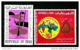 IRAQ IRAK ARMY DAY 1971 Soldiers Military Palestine Map SC# 579 - 580  MNH - Iraq