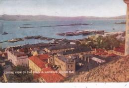 Gibraltar Centre View Of The Town & Harbour - Gibraltar