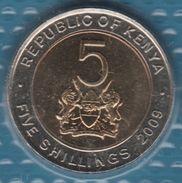 KENYA 5 SHILLINGS 2009 KM# 37  Bi-métallique MZEE JOMO KENYATTA - Kenya