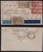 Brazil Brasil 1936 VASP Airmail Cover RIBEIRAS PRETO To RIO Letter Inside - Poste Aérienne