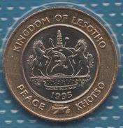 LESOTHO 5 MALOTI 1995 KM# 67 Bi-métallique 50th Anniversary Of UN - Lesotho